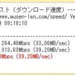速度診断でインターネット速度を1000倍以上に!(2017.09)